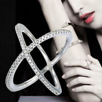 1 Pcs Criss Cross Ring X Double Solid Sterling Silver High Polished Hot Sale