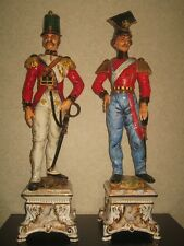 Napoleon Soldiers Set of 2 Capodimonte by Bruno Merli porcelain figurines