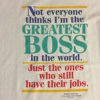 Vtg 90s Greatest Boss Shoebox Greetings T-Shirt XL Hallmark Funny 50/50 Blend