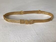 Vintage Gold Tone St. John Metal Stetch Belt Couture