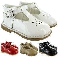 KIDS INFANTS BABY TOODLER PATENT SPANISH BUCKLE FLAT TBAR PARTY WEDDING SHOES SZ
