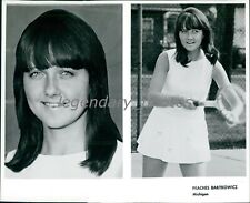 1960's Peaches Bartkowicz Professional Tennis Player Original Press Photo