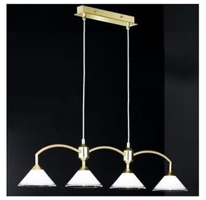 Batten Luminaire Kitchen Lamp Hanging Glass Light Garbo IN Polished Brass