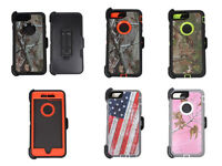 For iPhone 7/7 PLUS Defender Rugged Camouflage Case Screen & Clip Fit Otterbox