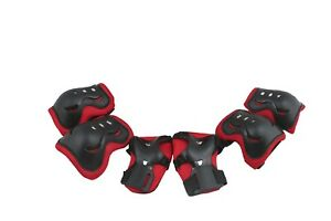 Kids Bicycle Bike Protective Pads Set 6pcs also for Scooter/Skateboard use Red