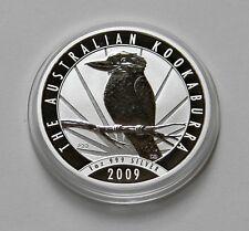 """AUSTRALIEN: 1 Dollar 2009 """"KOOKABURRA"""", 1 Oz Feinsilber, stempelglanz !!!"""