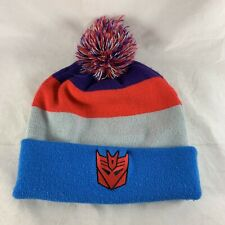 Nike Transformers Knit Hat Beanie Blue Red Decepticon RID Show No Mercy MEGATRON