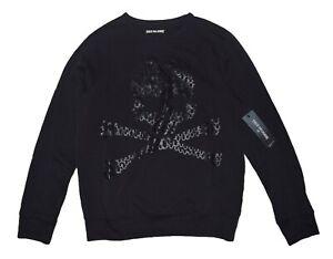True Religion Mens Crew Neck Skull Sweatshirt size M NWT M17HF21K2G