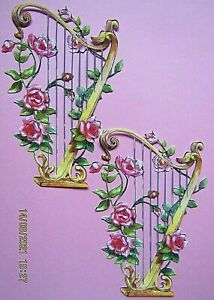 New: 6 x Tattered Lace : Floral Harp Charisma Die Cuts