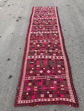 FREE SHIPPING! Long Kilim Rug 3.7x13.7ft Kilim Runner Rug Vintage Oushak Turkish