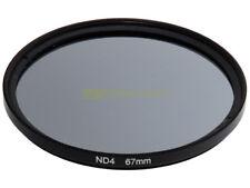 67mm. Filtro neutral density ND 4. ND4 filter.