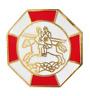 Caballeros Templarios Sello Octagonal Masoneria Masónico Prendedor Pin
