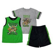 Teenage Mutant Ninja Turtles Boys 3-Piece T-Shirt Tank Top & Shorts Set