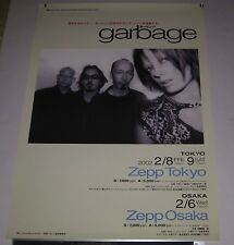 Garbage Japan Promo Only 73 x 51 cm Tour Poster 2002 Shirley Manson Butch Vig