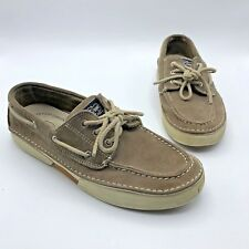 Sperry Top Sider 0784157 Largo 3 Eye Men Tan Suede Boat Shoe Size 9M Pre Owned