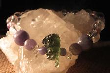 MOLDAVITE TANZANITE HERKIMER DIAMOND SUPER 7 SEVEN MELODYS STONE BRACELET