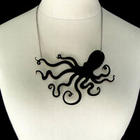 Jellyfish Octopus Pendant Necklace Sweater Chain Punk Women Jewelry Chic.