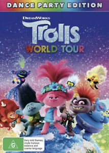 TROLLS WORLD TOUR DVD-BRAND NEW/SEALED REGION 4 FREE SHIPPING!