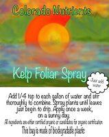 Kelp foliar spray for cannabis, vegetable garden, flower gardens makes 18 gallon