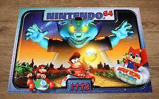 1998 Nintendo 64 Calendar Banjo-Kazooie Super Mario Kart Yoshi Poster very Rare