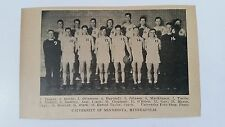 Minnesota Golden Gophers University 1927-28 Basketball Team Picture