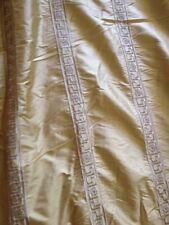 "Silk Drapes Curtains Gold Greek Key 128"" Hollywood Regency Glam Mid century Mod"