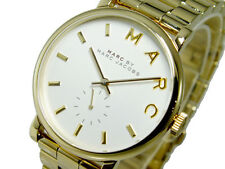 NEW MARC JACOBS BAKER GOLD TONE STAINLESS STEEL BRACELET LADIES WATCH MBM3243