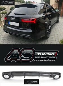 Diffusor / Heckdiffusor passend für Audi A6 C7 4G Avant VFL 11-14Bj. + Kleber