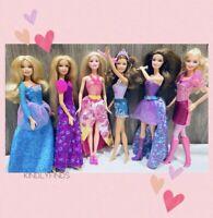 Barbie Doll Lot! Princess & Popstars! 6 Mattel Contemporary Fashion Dolls Fancy!