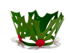 Christmas cupcake wrappers, cupcake wrappers, Christmas cake liner, Holly decor,