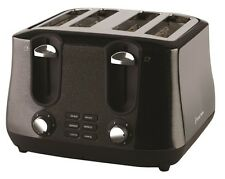 New Russell Hobbs Siena 4 Slice Toaster Black Diamonds RHT44BLK