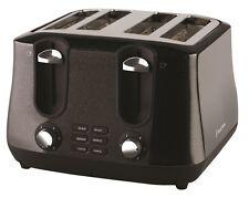 New Russell Hobbs Siena 4 Slice Toaster Black Diamonds RHT44BLK RRP129.95