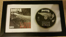 PANTERA Vulgar Display of Power SIGNED AUTOGRAPHED FRAMED CD DISPLAY #A