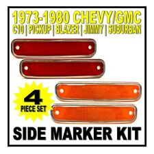 19 73 74 75 76 77 78 79 80 Chevy GMC Truck C10 Side Marker Front Rear Kit Deluxe