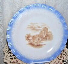 Blue Rim Cremax Plate of Windsor Castle  by Macbeth Evans  10 inches
