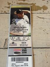 August 2, 2005 Chicago White Sox World Series Champions vs Toronto Ticket Stub.