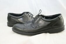 Ecco Black Lace Up Plain Toe Leather Comfort Casual Oxfords Men's Euro 46
