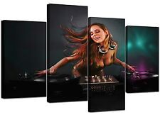 Extra Large DJ Decks Turntable Canvas Wall Art 130cm XL Set Print 4064