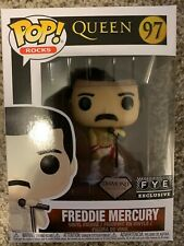 "Funko Pop! Rocks Queen ""Freddie Mercury"" #97 FYE Exclusive Comes with Protector!"