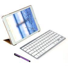 Smart Cuero Funda Con Bluetooth Teclado Inalámbrico Para iPad Air 2 Dorado