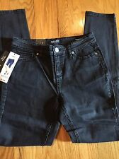 NWT BUFFALO DAVID BITTON FRANCESCA MIDRISE SKINNY STRETCH BLACK JEANS SZ 2/26