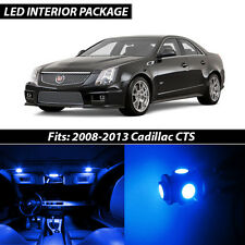 2008-2013 Cadillac CTS Blue Interior LED Lights Package Kit
