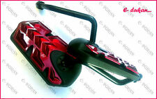 Universal Rear View Mirror Set For All Bikes And Scooters - RED BLACK