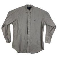 Mens L Polo Ralph Lauren Blake Long Sleeve Button Down Shirt Plaid Yellow Cotton
