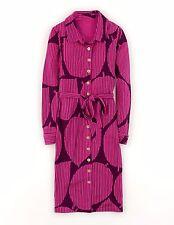 NEU mit Etikett BODEN CARNABY Trikot Hemd Kleid UK 12 R (US 8) lila groß Blatt