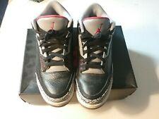 2011 Air Jordan Retro 3 Size 9.5 BC Black Cement Grey