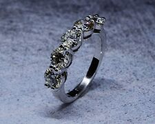 3.00 Ct. Hand Crafted 5-Stone Natural Round Cut Diamond Wedding Band