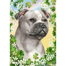 Clover House Flag - Blue and White Staffordshire Bull Terrier 31248