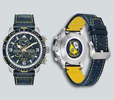 Authentic Citizen Promaster Blue Angels Skyhawk A-T Leather Watch JY8078-01L