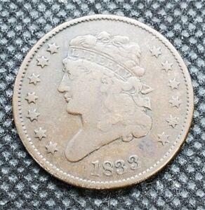 1833 Classic Head Half Cent | VERY GOOD